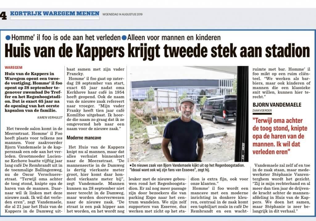 Huis van de Kappers opent 2e zaak aan Stadion